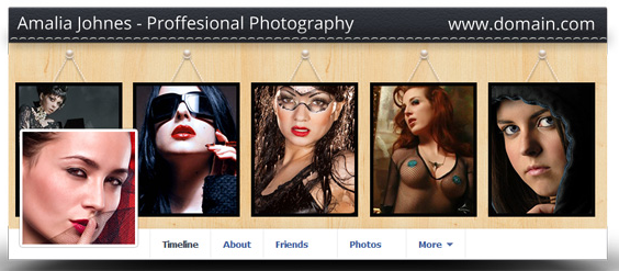 Facebook cover for professional photographer