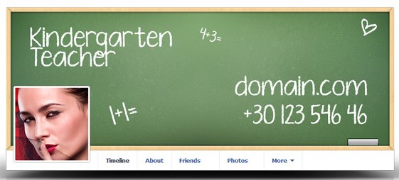 Kindergarten teacher's facebook cover